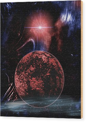 Rocky Extrasolar Planet Wood Print by Victor Habbick Visions