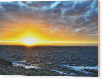 Rocky Harbour Nl Sunset Wood Print