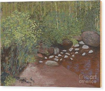 Rocky Mountain Creek Wood Print by Ginny Neece