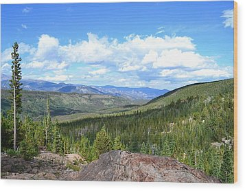Wood Print featuring the photograph Rocky Mountain National Park2 by Zawhaus Photography