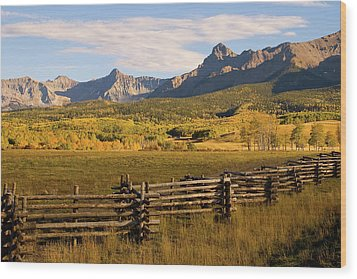 Rocky Mountain Ranch Wood Print by Steve Stuller