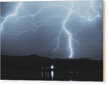 Rocky Mountain Storm  Wood Print by James BO  Insogna