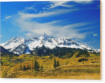 Rocky Mt. High Wood Print