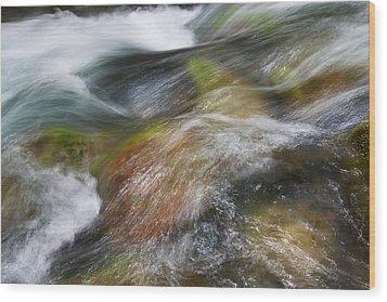 Rocky Riverbed Wood Print by Jenna Szerlag