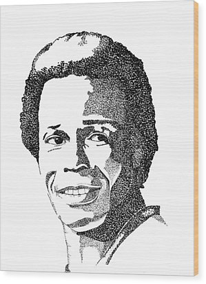 Rod Carew Sports Portrait Wood Print by Marty Rice