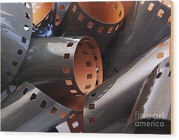 Roll Of Film Wood Print by Carlos Caetano