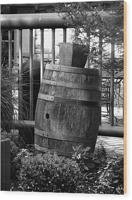 Roll Out The Barrel Wood Print by Shelley Blair