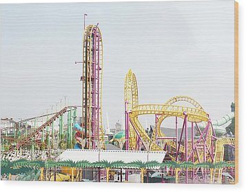 Rollercoaster Wood Print by Thenakedsnail