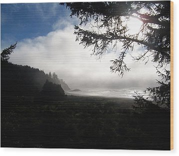 Wood Print featuring the photograph Rolling Fog by Peter Mooyman