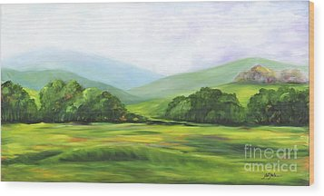 Rolling Hills In Springtime Wood Print