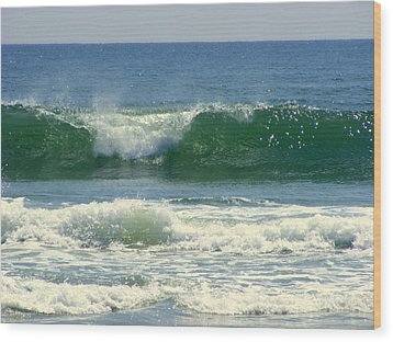 Wood Print featuring the photograph Rolling Wave by Kelly Nowak