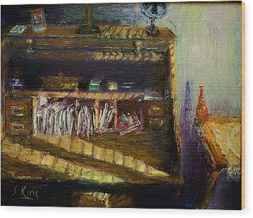 Rolltop Wood Print by Stephen King