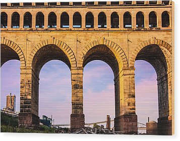 Roman Arches Wood Print by Semmick Photo