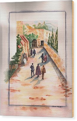 Wood Print featuring the painting Roman Avenue by Sharon Mick