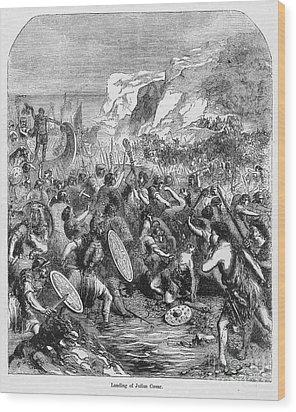 Roman Invasion Of Britain Wood Print by Granger