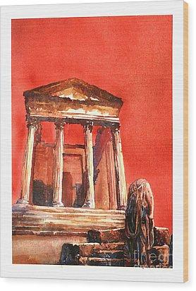 Roman Ruins- Tunisia Wood Print by Ryan Fox