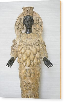 Roman Statue Of Artemis Wood Print by Sheila Terry