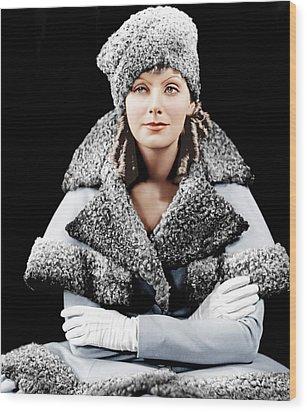 Romance, Greta Garbo, Portrait Wood Print by Everett