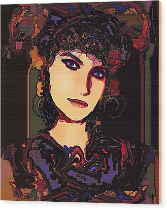 Romantic Lady Wood Print by Natalie Holland