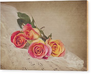 Wood Print featuring the photograph Romantic Music by Cheryl Davis