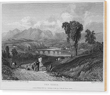 Rome: Milvian Bridge, 1833 Wood Print by Granger