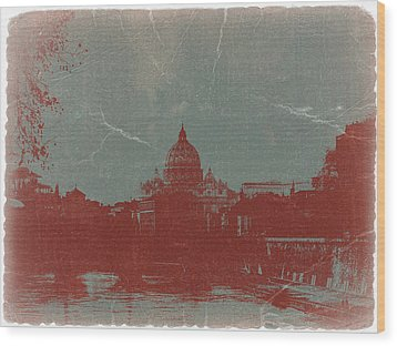 Rome Wood Print by Naxart Studio