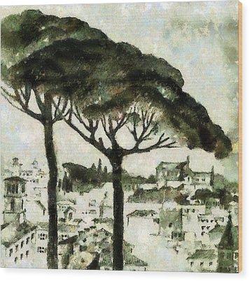 Rome Wood Print by Odon Czintos