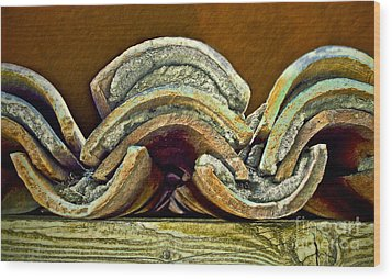 Roof Tiles Wood Print by Gwyn Newcombe