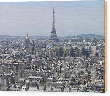 Roofs Of Paris From The Notre Dame Wood Print by Romeo Reidl