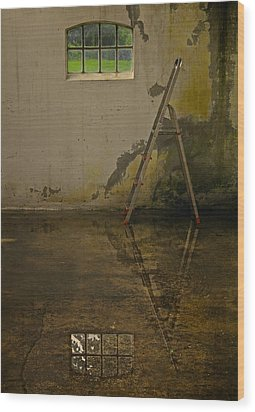 Room For Reflection Wood Print by Odd Jeppesen