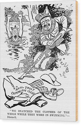 Roosevelt Cartoon, 1902 Wood Print by Granger