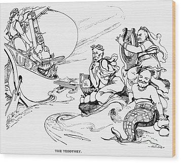 Roosevelt Cartoon, 1907 Wood Print by Granger