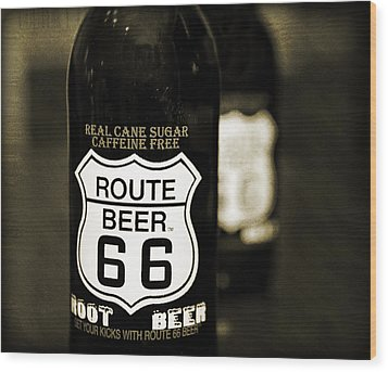 Root Beer Wood Print by Malania Hammer