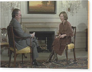 Rosalynn Carter During A White House Wood Print by Everett
