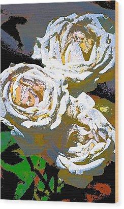 Rose 126 Wood Print by Pamela Cooper