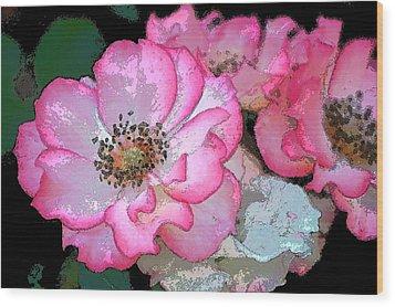 Rose 129 Wood Print by Pamela Cooper