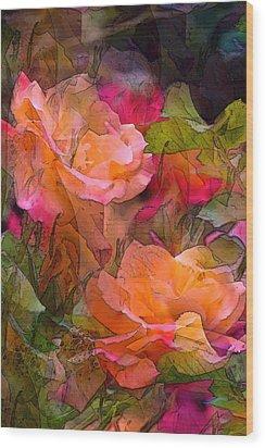 Rose 146 Wood Print by Pamela Cooper