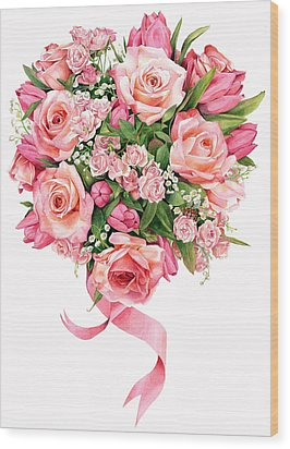 Rose Bouquet Wood Print