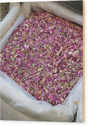 Rose Petals Wood Print by Tia Anderson-Esguerra