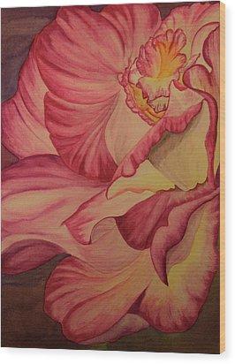 Rose Two Wood Print by Teresa Beyer
