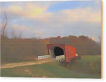 Roseman Bridge Of Clint Eastwood Fame Wood Print