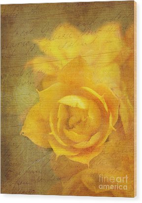 Roses For Remembrance Wood Print by Judi Bagwell