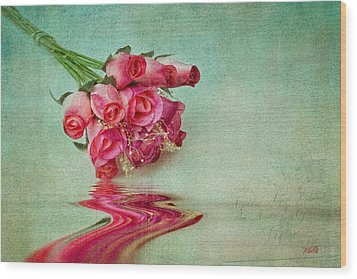 Roses Wood Print by Michael Petrizzo