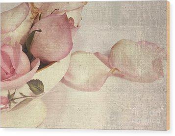 Roses Wood Print by Sophie Vigneault