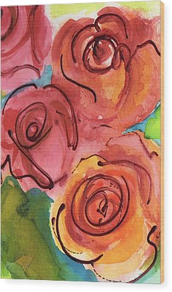 Rosettes Wood Print by Judy  Rogan