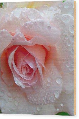 Rosie In The Rain Wood Print by Debra Collins