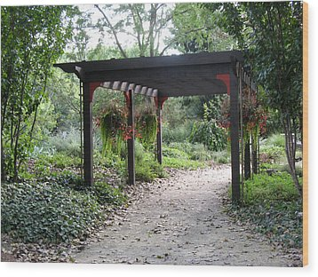 Rotary Gardens Wood Print