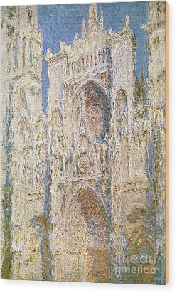 Rouen Cathedral Wood Print by Claude Monet