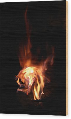 Round Heat Wood Print by Adam Long