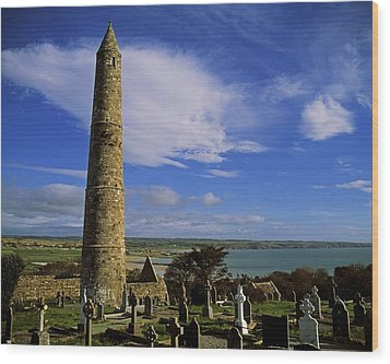 Round Tower, Ardmore, Co Waterford Wood Print by The Irish Image Collection